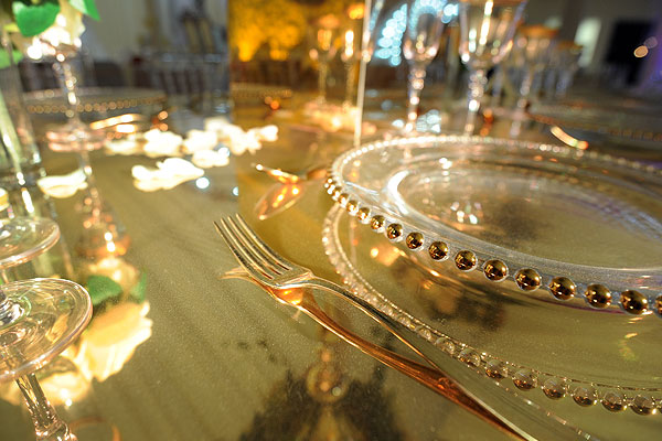 Gold Cutlery Hire For Weddings