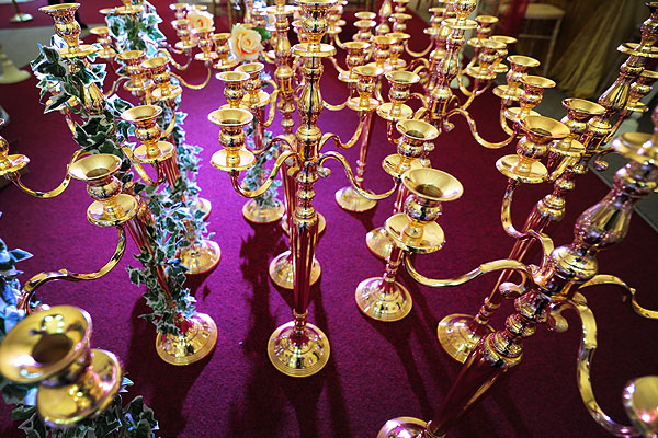 Asian Wedding Candelabra Hire