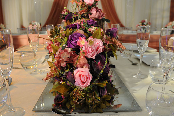 Asian Wedding Table Centrepieces