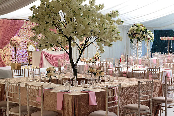 Beautiful Venue Decor & Table Decorations Hire