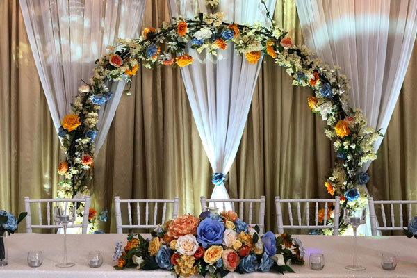 Floral Backdrops For Wedding Top Tables