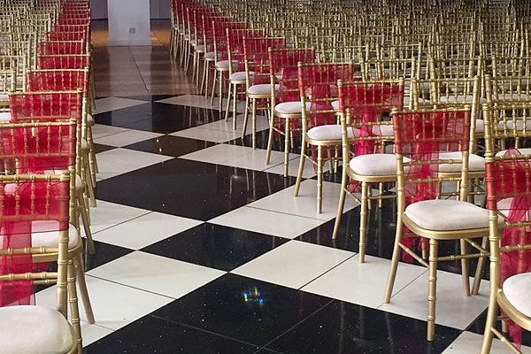 Gold Chiavari Chair Hire With Chair Ties