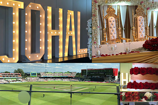 Johal Wedding Old Trafford Cricket Ground Manchester