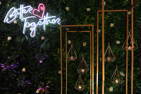 Modern Backdrops With LED Signs