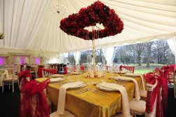 Square Flowered Halo Centrepiece Hire