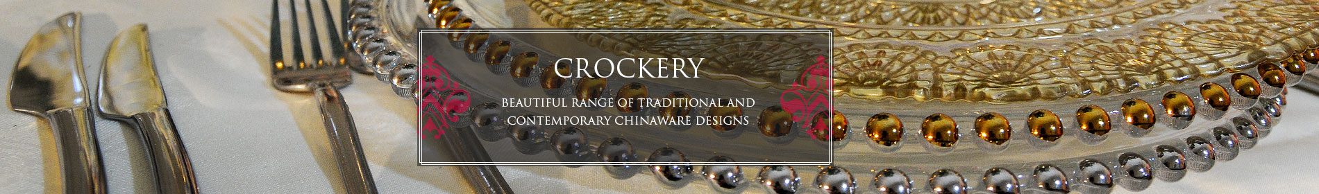 Asian Wedding Crockery Hire