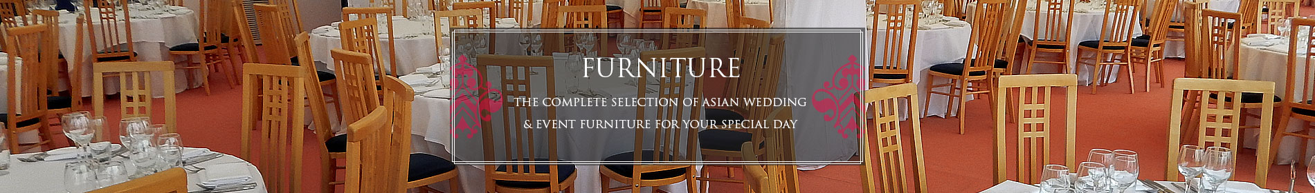 Asian Wedding Furniture Hire