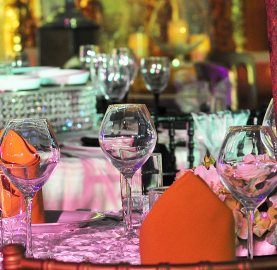 Asian Wedding Glassware Hire