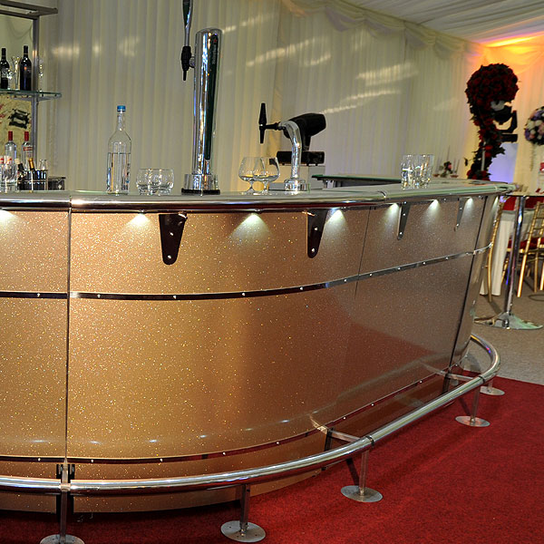 Gold Mobile Bar Hire