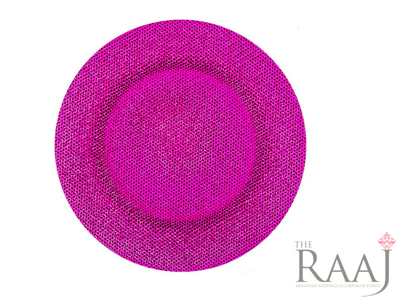 Cerise Glass Charger Plates