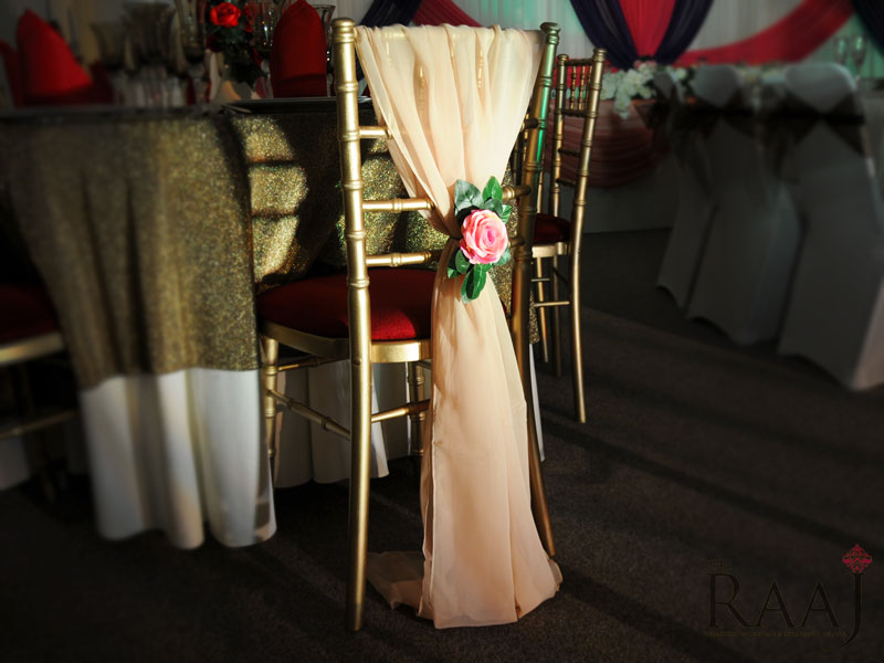 Gold Chair Sash Hire