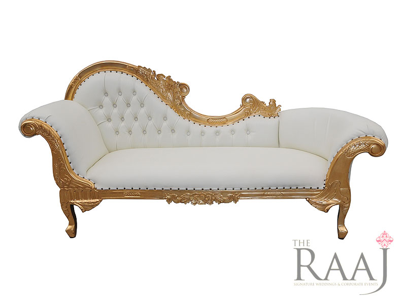 Gold Chaise Longue