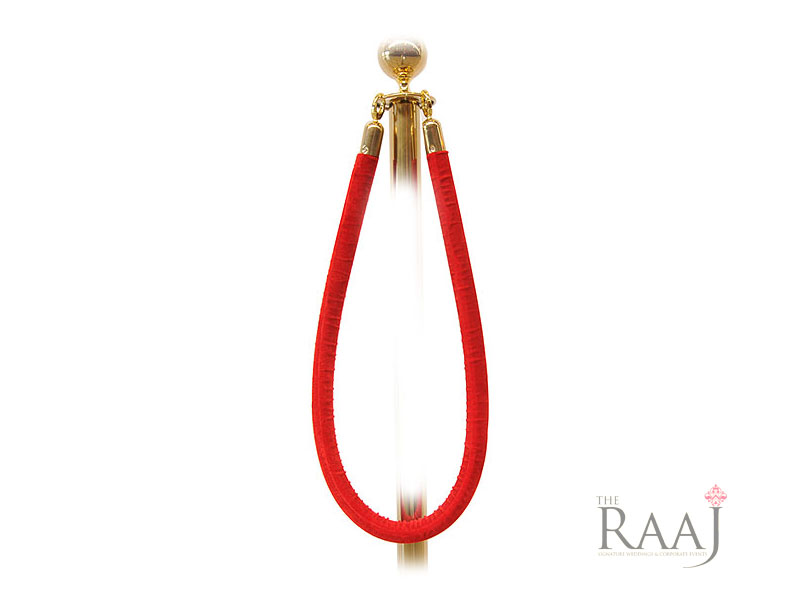 Red Ropes & Gold Posts Hire