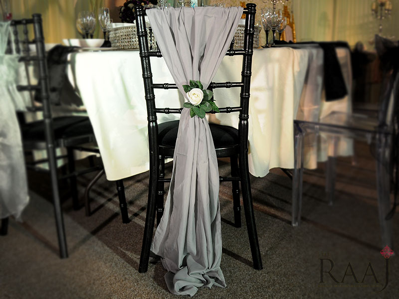 Grey Chair Sash Hire