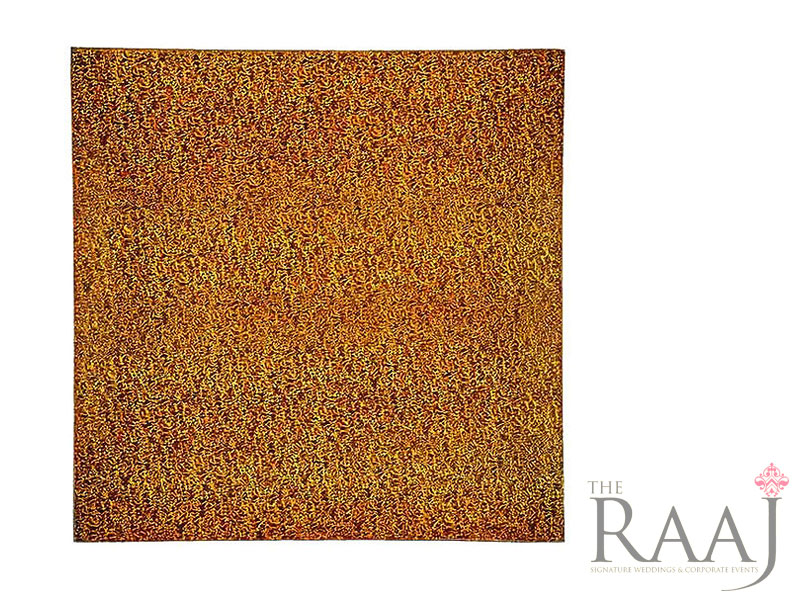 Square Orange Glass Charger Plates