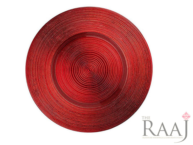 Red Glass Charger Plates