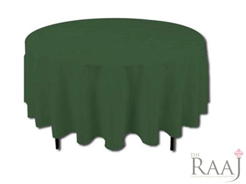 Round Green Tablecloths