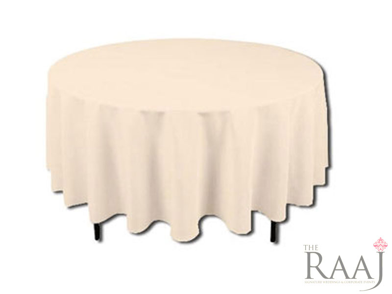 Round Ivory Tablecloths