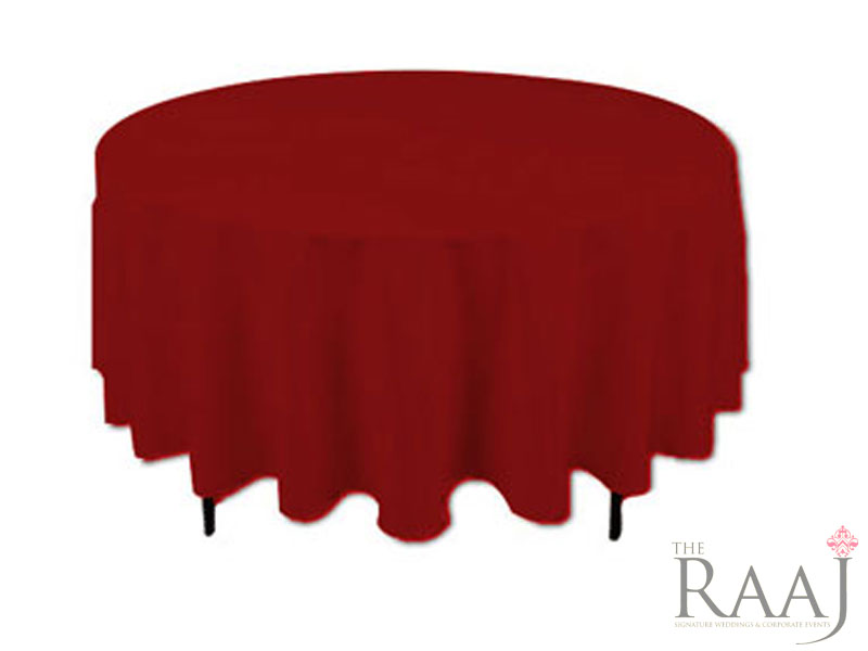 Round Red Tablecloths
