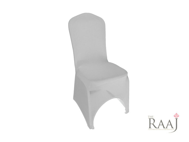High Arch White Lycra Chair Cover Hire