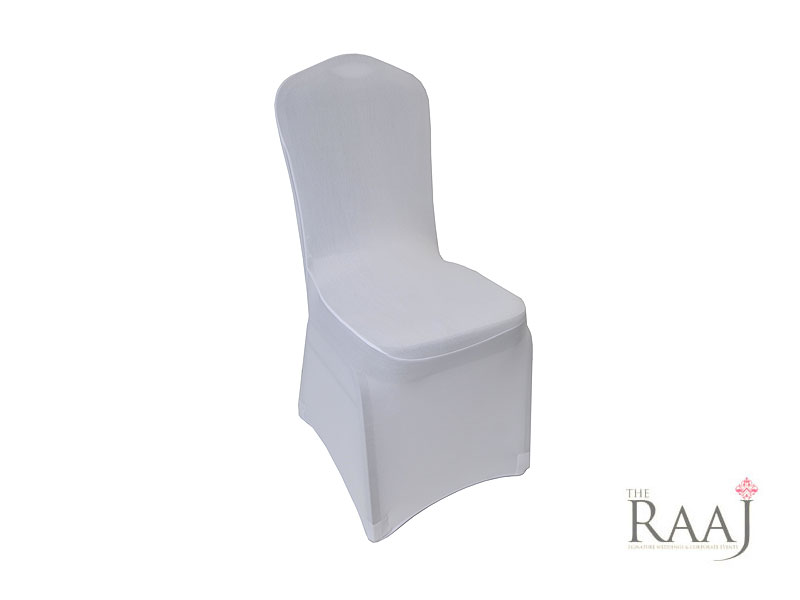 Low Arch White Lycra Chair Cover Hire