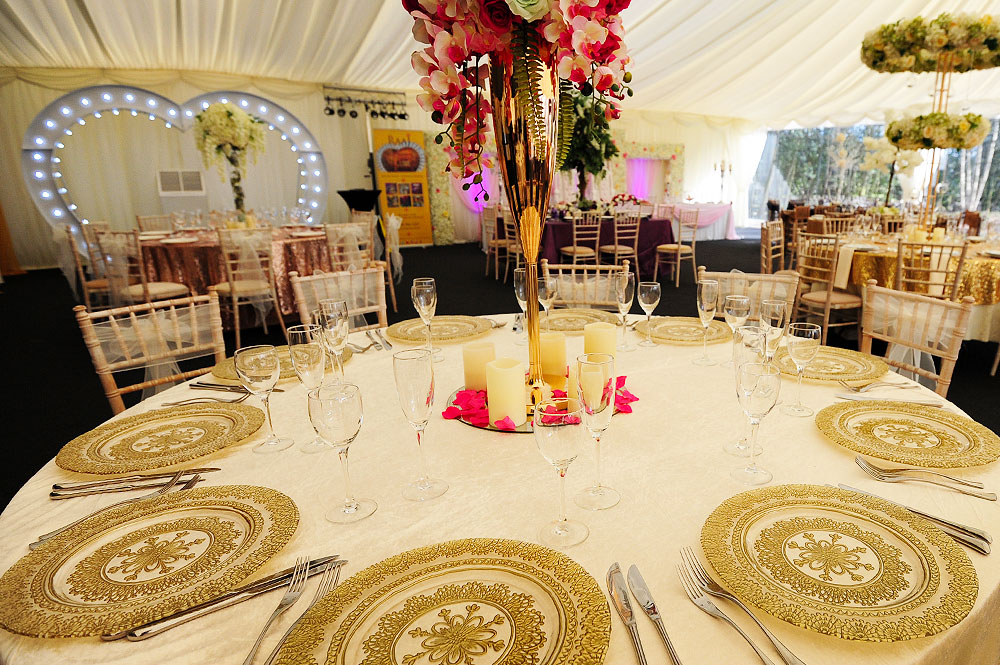 Asian Wedding Gold Plates