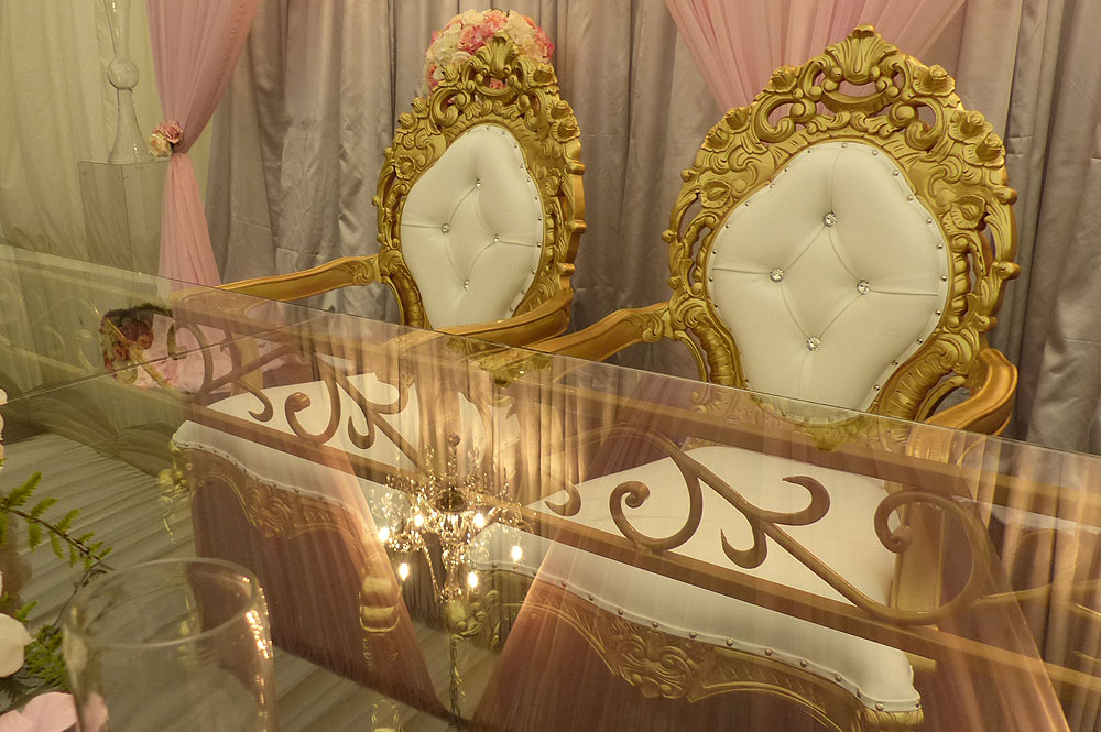 Asian Wedding Gold Throne Chair Hire