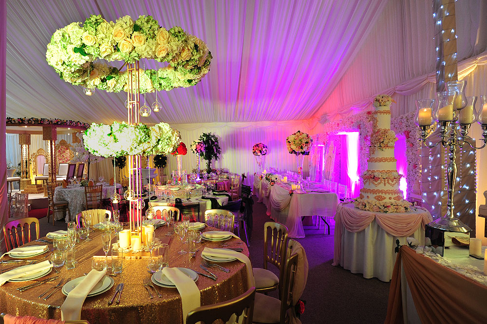 Table centrepieces the raaj signature asian weddings corporate asian wedding halo centrepiece hire junglespirit