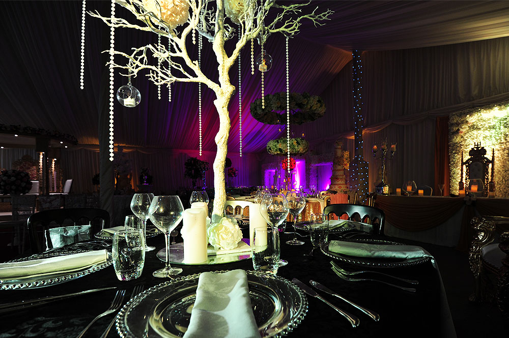 Asian Wedding Table Centrepieces Hire