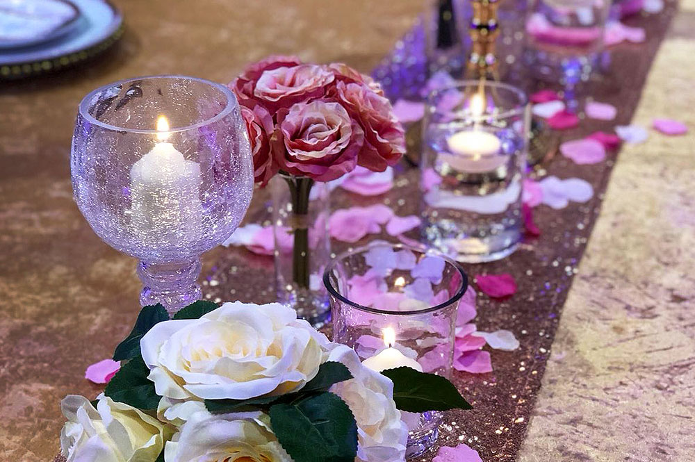 Asian Wedding Table Decoration Hire