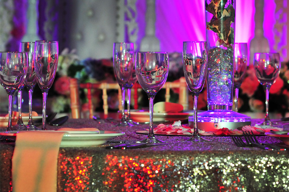Asian Wedding Tablecloth Hire