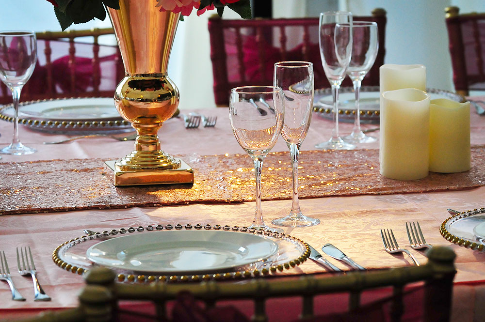 Asian Wedding Tablecloth Rental