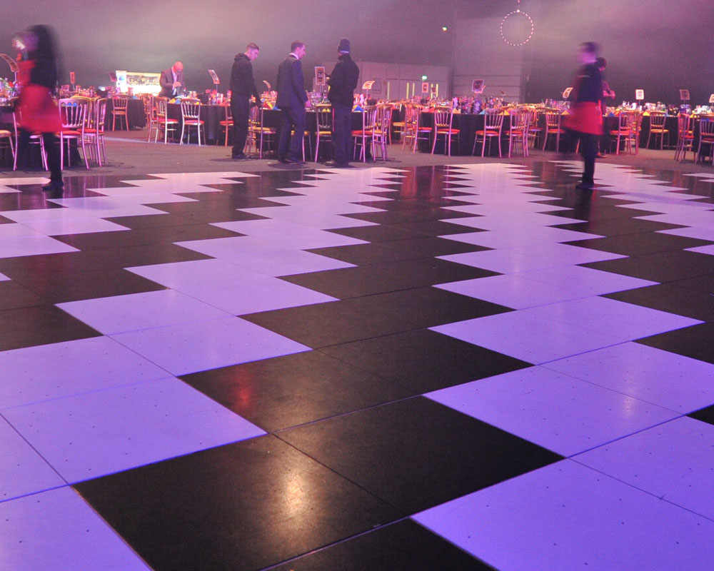 Black & White Dance Floor Hire The RAAJ