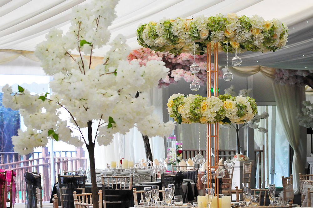 Table centrepieces the raaj signature asian weddings corporate floral table centrepieces blossom tree hire asian weddings junglespirit Images