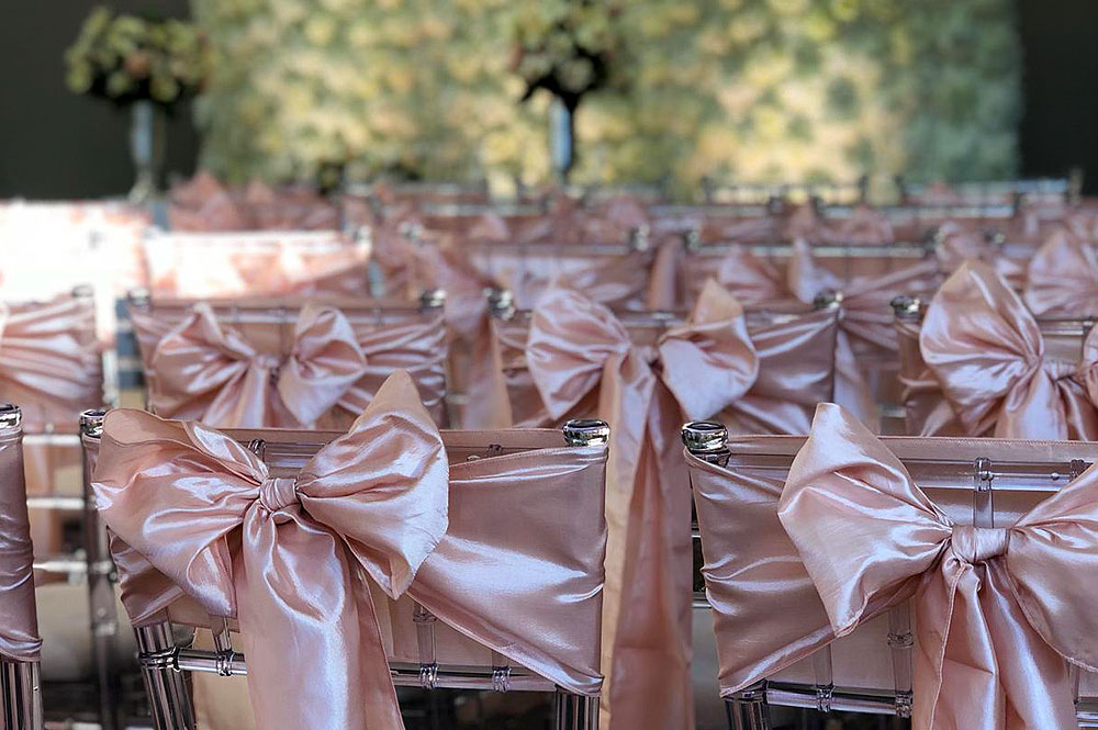 Ghost Chiavari Chair Hire With Bows