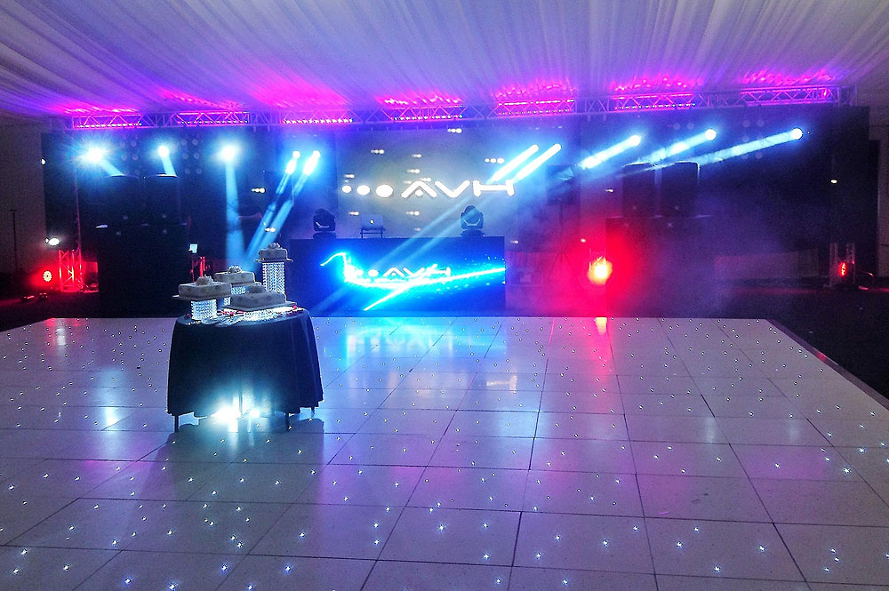 Hire LED Dance Floor For Asian Wedding