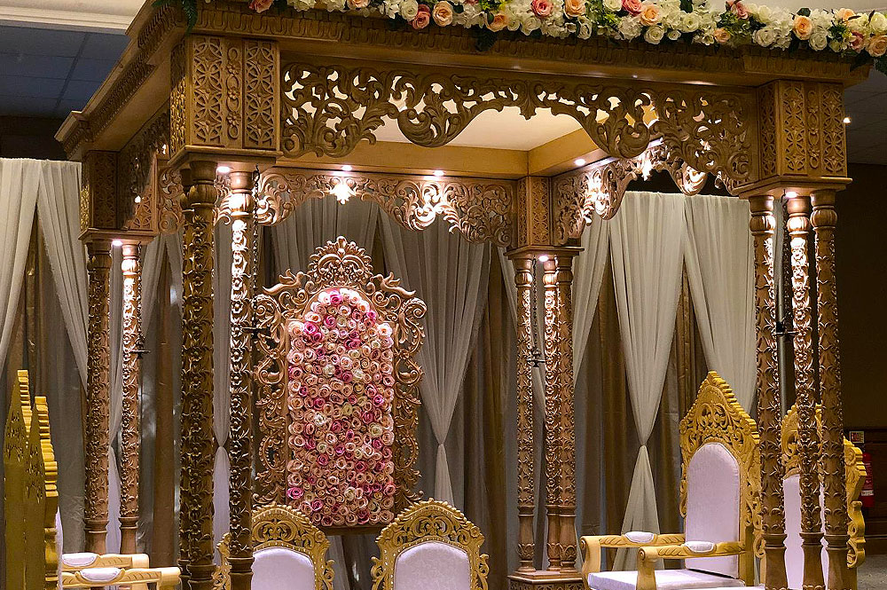 Square Wooden Mandap Hire The RAAJ