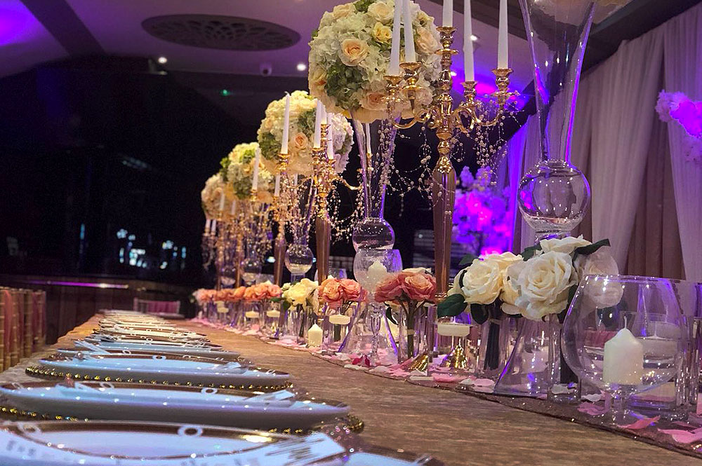 Table Flower Vases Hire the RAAJ