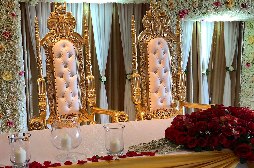 Top Table Hire Asian Weddings